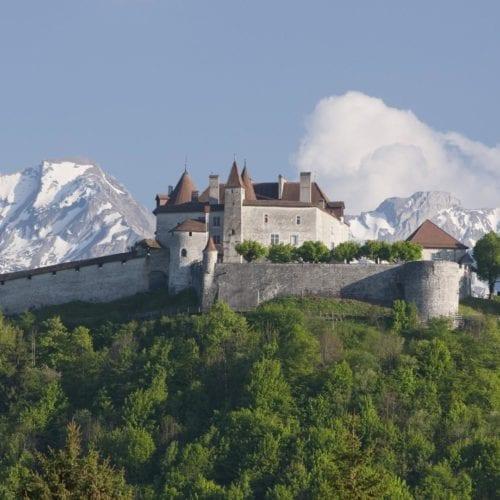 Le Château de Gruyères à Fribourg - Suisse